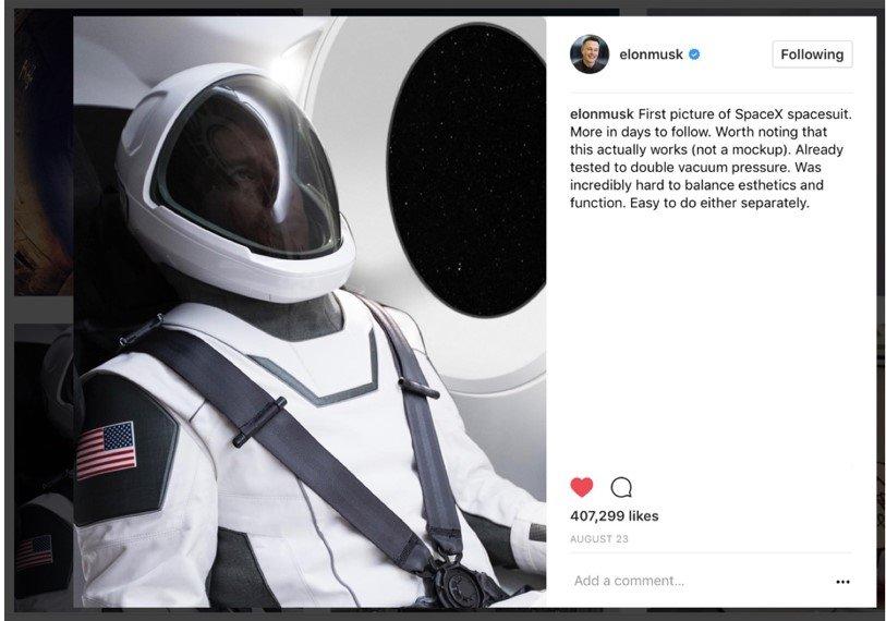 spacesuit by elon musk
